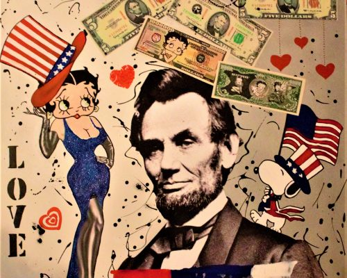 Betty love Lincoln 80x80cm
