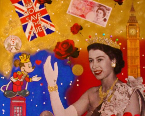 Save the Queen 100x100cm
