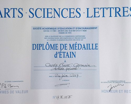 Diplôme Arts-Sciences&Lettres Carole St-Germain